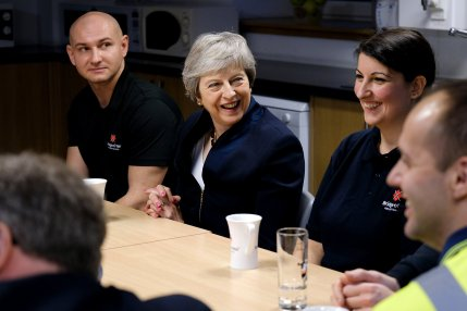 Theresa May in Scotland talking to students and also highlighting more about Brexit