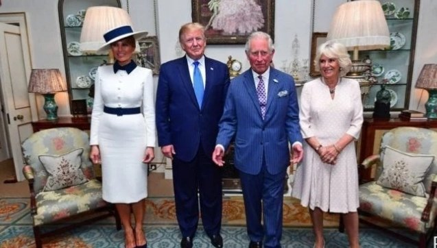 President Trump joined the Duchess and the Prince