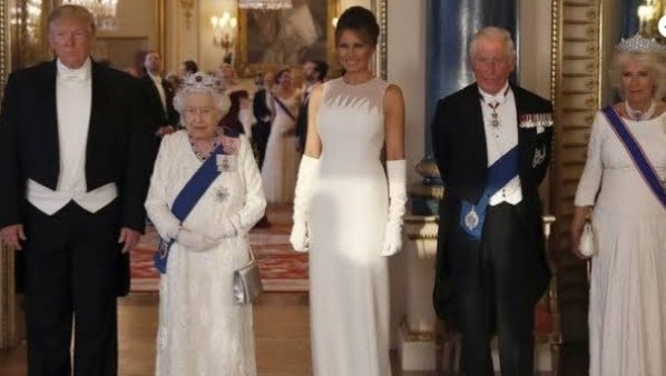 President Donald J. Trump and Melenia with the ROYALS