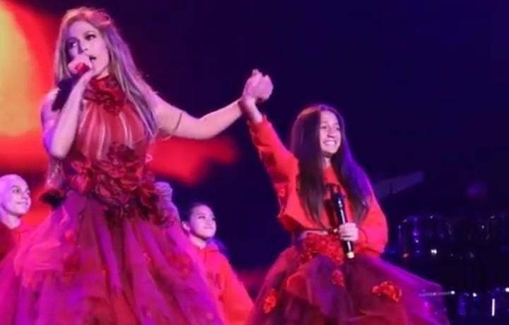 'It in the blood' Emme sang with her mum.