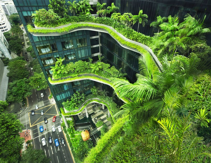 image of  Singapore's Green skyscraper. 1