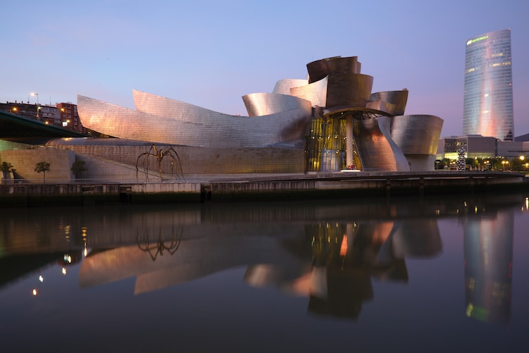 The Guggenheim's satellite in Bilbao, Spain.