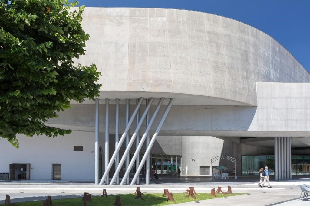 The contemporary MAXXI Museum was designed by Zaha Hadid
