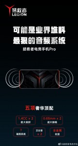 In the picture is a demo of how the speakers will look like in the phone