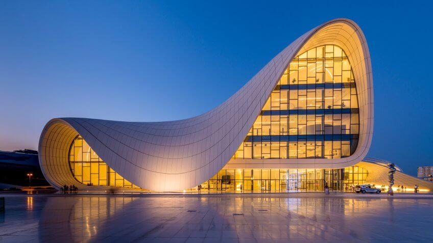 Heydar Aliyev Center designed by Zaha Hadid