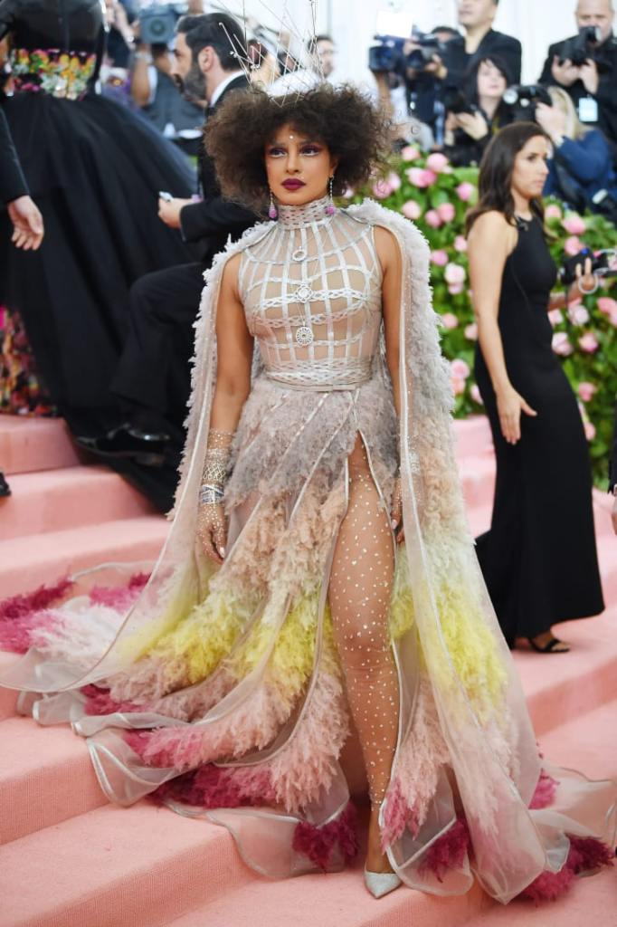 "Priyanka Chopra attends The 2019 Met Gala ""Celebrating Camp: Notes on Fashion""."