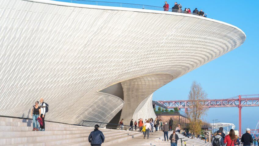 Museum of Art, Architecture, and Technology designed by Amanda Levete