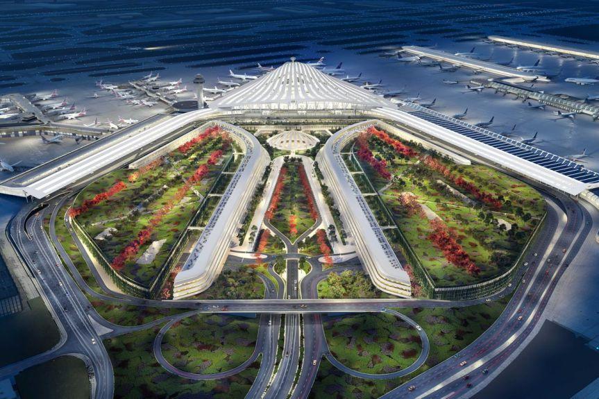 The O'Hare Global Terminal by Santiago Calatrava/gwebcastes.com
