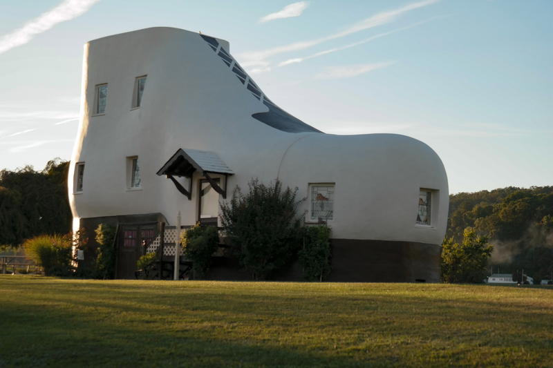 The Haines Shoe House is a shoe-shaped house located at Hallam in Pennsylvania.