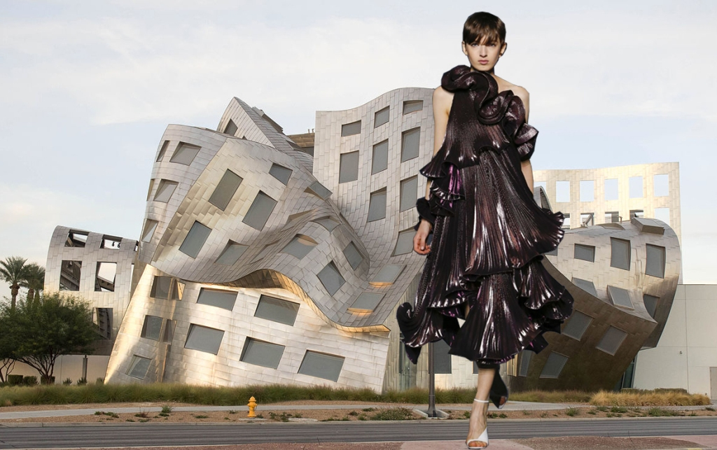 Cleveland Clinic Lou Ruvo Center for Brain Health Nevada, USA, by Frank Gehry and Givenchy FW18 runway.