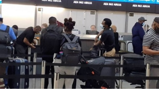 300 Nigerians on board are waiting to be deported back home from the United Kingdom. image courtesy/Nigerians abroad