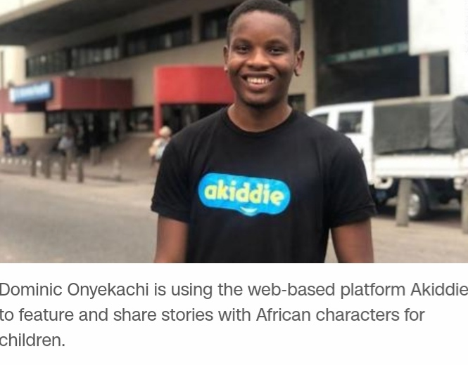 Dominic Onyekachi is utilizing the web base platform akiddie to feature and share stories with African characters for children in African dialects