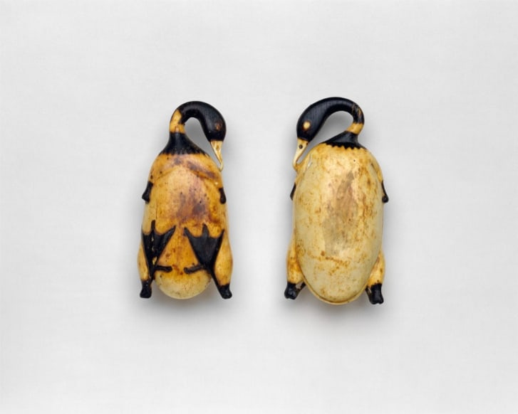 Cosmetic Dish in the Shape of a Trussed Duck, ca. 1353-1327 B.C. Credit: The Metropolitan Museum of Art