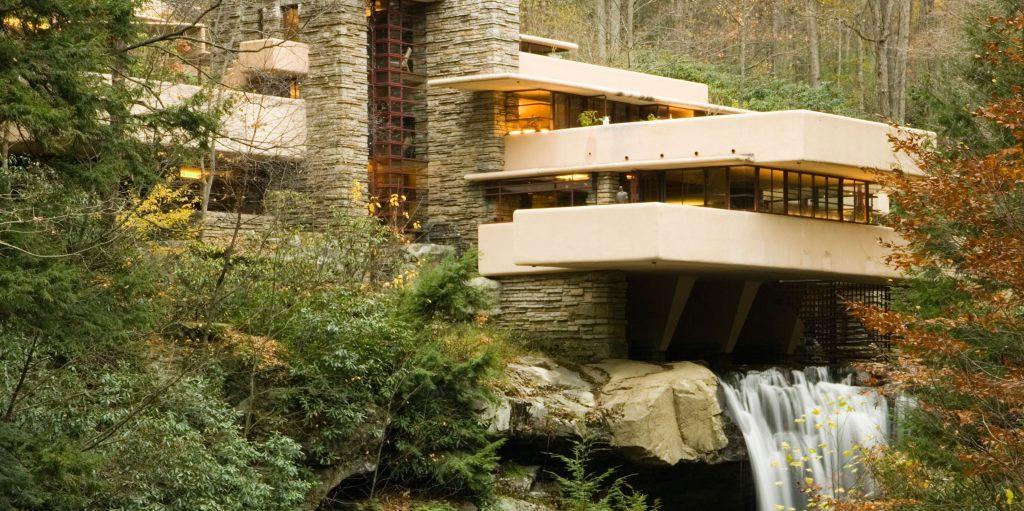 Fallingwater, Pennsylvania, USA  Designed by Frank Lloyd wright