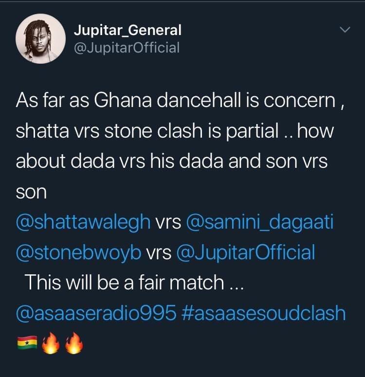 Twitt from Jupitar