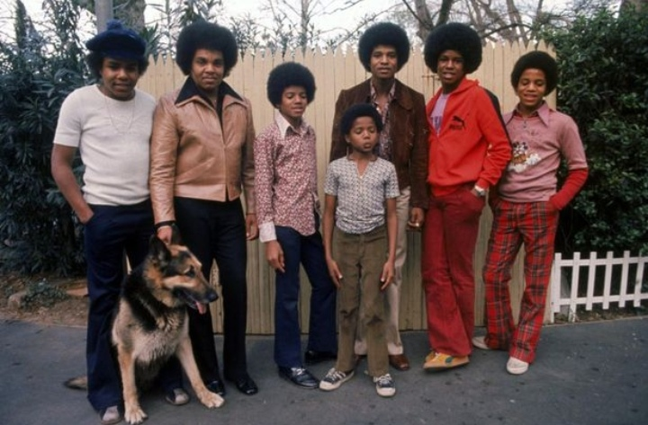 Micheal Jackson, third from left is said to have accused his father Joe, second left, of forcing him to undergo chemical castration. Image©Getty Images