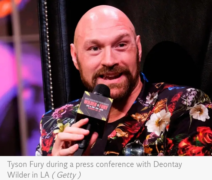 Tyson Fury stood firm in his position Not refusing to let the conversation drop, though Keyshawn pushed once more