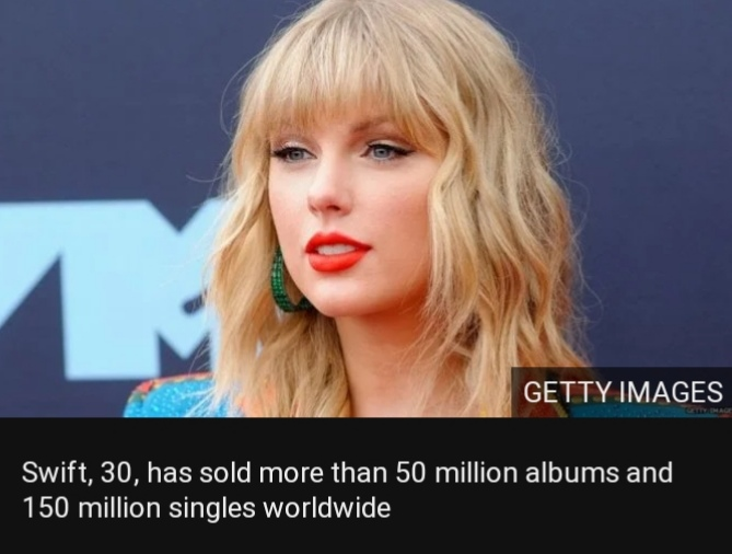 Swift, 30, has sold more than 50 million albums and 150 million singles worldwide