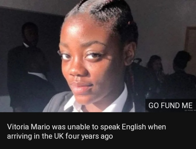 Vitoria Mario was unable to speak English when arriving in the UK