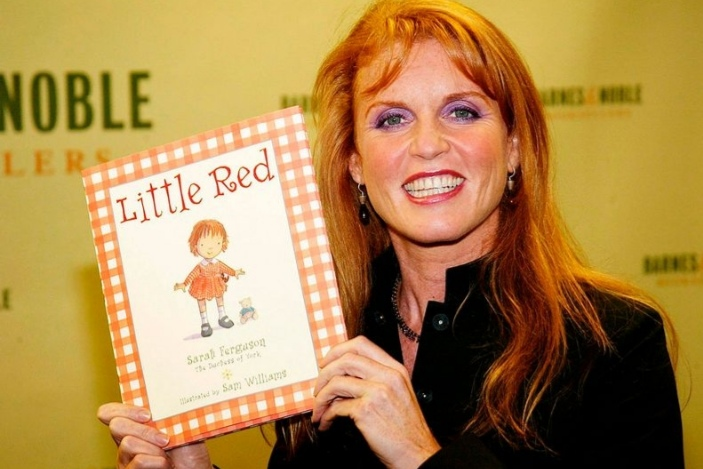 """Sarah Ferguson, """"The Duchess of York pictured with one of her Books"""