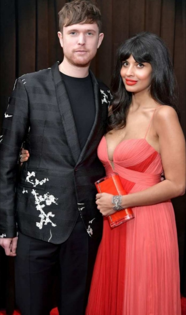 James Blake and Jameela attend the 61st annual Grammy awards on February 10 2019 in Los Angeles, California